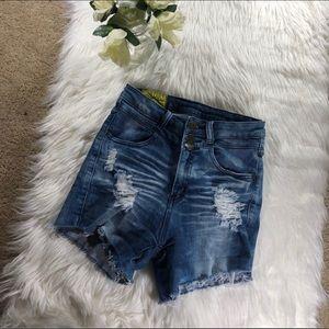 Pants - High waist stretchy jean shorts